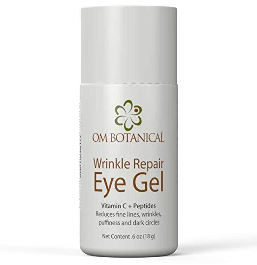 Wrinkle Repair Eye Gel Cream, Under Eye Bags and Dark Circles Treatment |  Most Effective Day & Night Anti-aging Eye Gel w/Vitamin C, Peptides, Argan